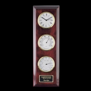 Three Face Simmons Clock, Thermometer & Hygrometer