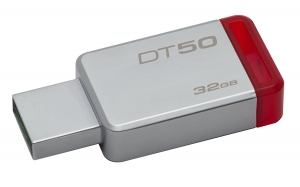 Kingston - DT50/32GBCR - 32GB USB3.0 DT 50 Metal Red