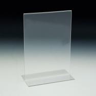 Support d'affiches de comptoir - Style en T - 5 L x 7 H - Acrylique durable claire