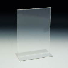 Counter Sign Holder - T-Style - 5 W x 7 H - Clear durable acrylic