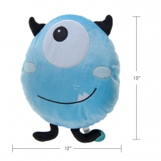 DUH - PILLOW, MONSTER DESIGN, LIGHT BLUE
