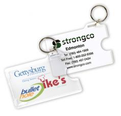 Card holder with key-ring
