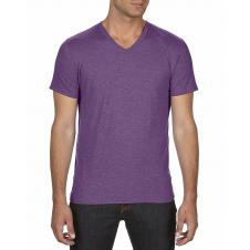 ANVIL - 6752 - T-Shirt - T-Shirt à col en V Triblend - 50/25/25 - Aubergine Cendré - X-Large