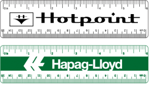 White Vinyl Rulers - 6 - 1 Color Printed - 4/0