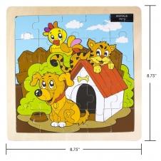 IPLAY - casse-tête en bois - Pets - 8.75 x 8.75 (22.22 x 22.22 cm)