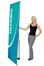 Uno Mega UN-1-MG - 36 x 85.5 - Telescopic Non-retractable Banner Stand - w. Bag