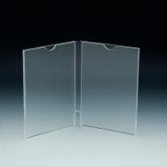 Support d'affiches de comptoir - Style livre ouvert - 2X (4 L x 6 H) - Acrylique durable claire