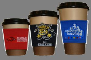 Esleeve Embroidered 2 1/2 x 3 Cup Sleeve