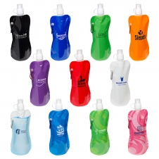 16 oz Foldable Water Bottle with Carabiner