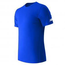 NEW BALANCE - MT81036P - T-Shirt - T-Shirt à manche courte pour homme - 100% Polyester - Pacifique - Small