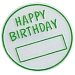 2 Birthday Button W/1 Color Tipping