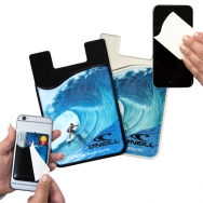 2 in1 Silicone Phone Wallet & Removable Microfiber Cloth - Cleaner
