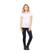 BELLA - B8413 - T-SHIRT TRIBLEND M/C POUR FEMME - Blanc Fleck Triblend - Medium