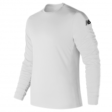 NEW BALANCE - MT81037P - T-Shirt - T-SHIRT À MANCHES LONGUES POUR HOMME - 100% Polyester - Blanc - Small
