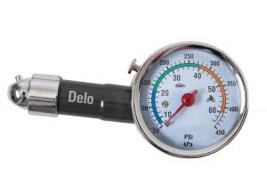 Deluxe Metal Dial Tire Gauge W/Travel Pouch