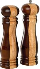 "8"" Wooden Salt & Pepper Mill Set"