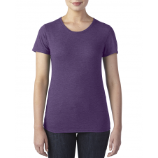 ANVIL - 6750L - T-Shirt - Triblend Col Rond pour femme - 50/25/25 - Aubergine Cendre? - Medium