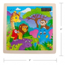 IPLAY - casse-tête en bois - Safari Animals - 9 x 9 (22.5 x 22.5 cm)