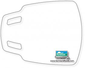 Flexible Cutting Board, FDA approved .030 clear plastic, Scoop Design (11.8