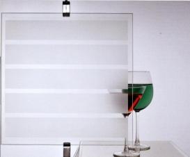 Window Films - Decorative Films - Frosted Films - INT 245 - Stripes of 45 mm
