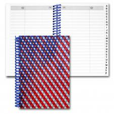 Address Book/ Lenticular USA Flag Flip Effect (Blank)