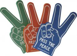 Foam Hand Peace/Victory Sign