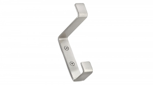 Utility Metal Hook - 36 - Brushed Nickel
