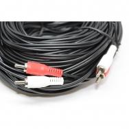 Audio Cable - RCA Male / RCA Male - Black - 100 ft