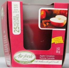 AIR FRESH CANDLE 3 OZ APPLE CINNAMON