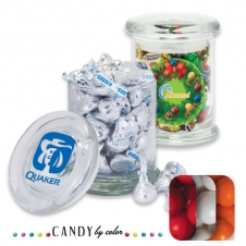Air Tight Gourmet Glass Jar Filled w/ Gumballs