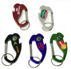 4-In-1 Jumbo Size Carabiner/ Bottle Opener/ Key Chain/ Compass
