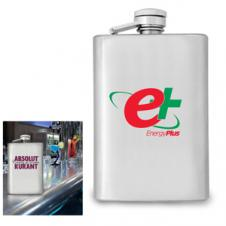 4 Oz. Stainless Steel Flask (7 Day Service)