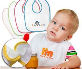 Velour Accent Baby Bib (11x8)