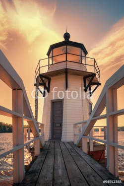 Doubling Point Lighthouse in Maine, USA