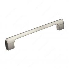 Poignée contemporaine en métal - 814 - 160 mm - Nickel brossé