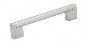 Poignée contemporaine en métal - 7191 - 128 mm - Nickel brossé