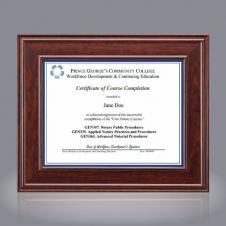 Calthrop Certificate Holder - Mahogany 8½x11