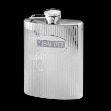 Toledo Polished Hip Flask - 6oz