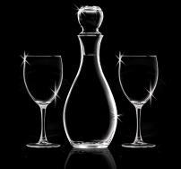 33.75 Oz. Elegance Decanter & 2 Wine Glasses