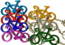 Bicycle Bottle Opener with Key Chain