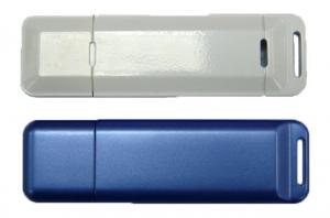 Custom Plastic Rectangle USB Flash Drive W/ Large Attachment Hole