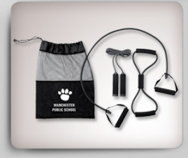 3 Piece Fitness Set Packed in a Polyester Duffle Bag