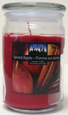 CITI-LITES 15 OUNCE APOTHECARY JAR SPICED APPLE