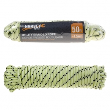 HARVEY TOOLS - DIAMOND BRAID GLOW IN DARK ROPE - 3/16 X 50'