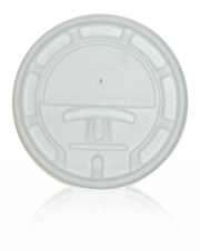 Lids for Paper Cups - 8oz white tear tab lid