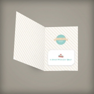 Medium Folded Seed Paper Gift Card Holder, 1-Sided