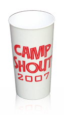 Reusable Plastic Cups - 12 oz. / White/Stadium