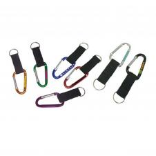 Large Size 8 Cm Carabiner with Strap and Split Key Ring