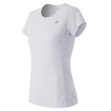 NEW BALANCE - WT53817 - T-SHIRT TECHNIQUE 5 KM POUR FEMME - 91% Polyester/9% Spandex - Blanc - X-Small