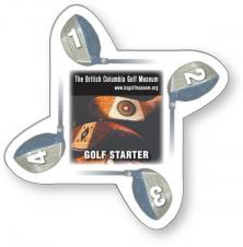 .020 White Plastic Double-Sided Golf Starter, Full Color & Varnish